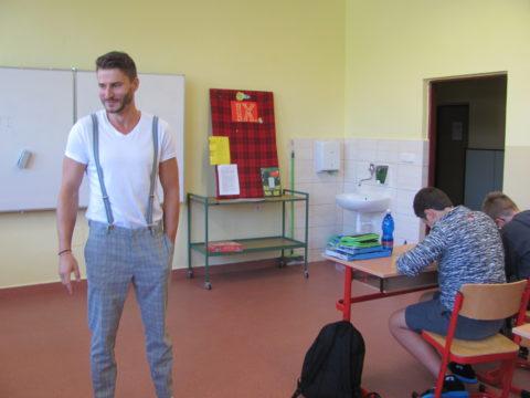 Vladimír Švarc ve třídě. Foto: V. Cekota
